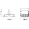 Potrójne przemysłowe oświetlenie LED - wymiary