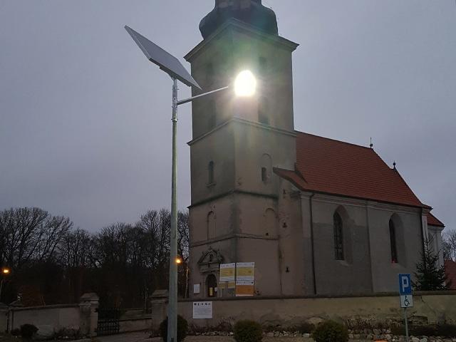 Oświetlenie uliczne -Latarnie Solarne LED marki Calidus dla Gminy Więcbork