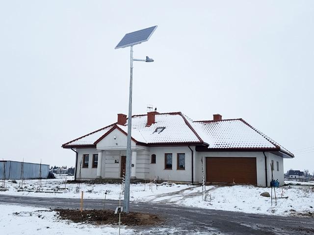 Realizacja Latarnie Solarne LED dla Gminy Kikół - wykonanie Calidus OLsztyn