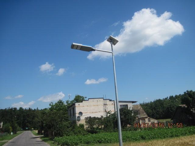 Latarnie Solarne LED dla Gminy Gąsawa - wykonanie Calidus Olsztyn