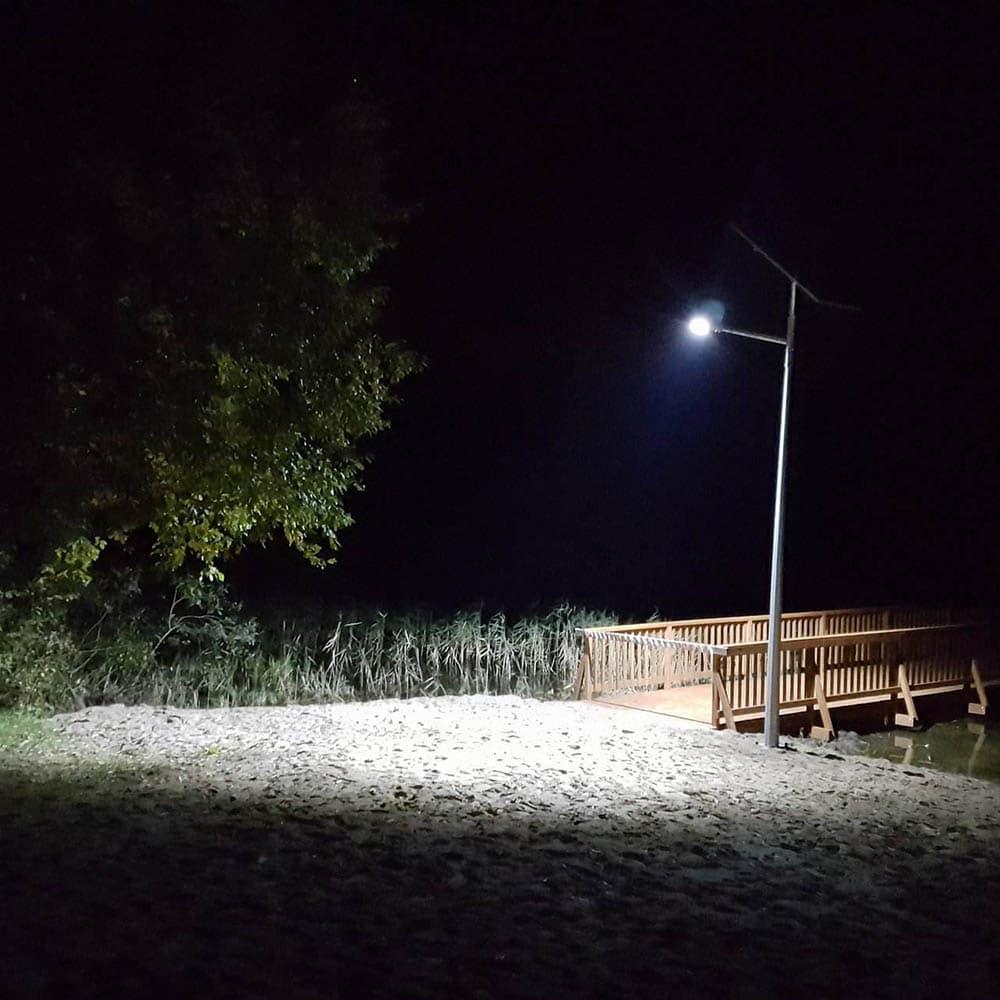 Latarnia solarna LED - realizacja Mielno