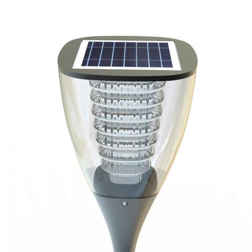 Lampa solarna wysoka do ogrodu