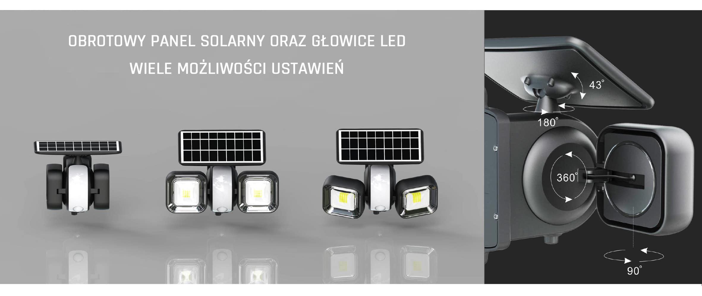 Solarna lampa 1000lm