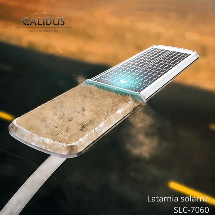 Latarnia solarna z samoczyszczacym panelem